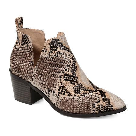 Journee Collection Womens Lola Stacked Heel Booties, 9 Medium, Multiple Colors