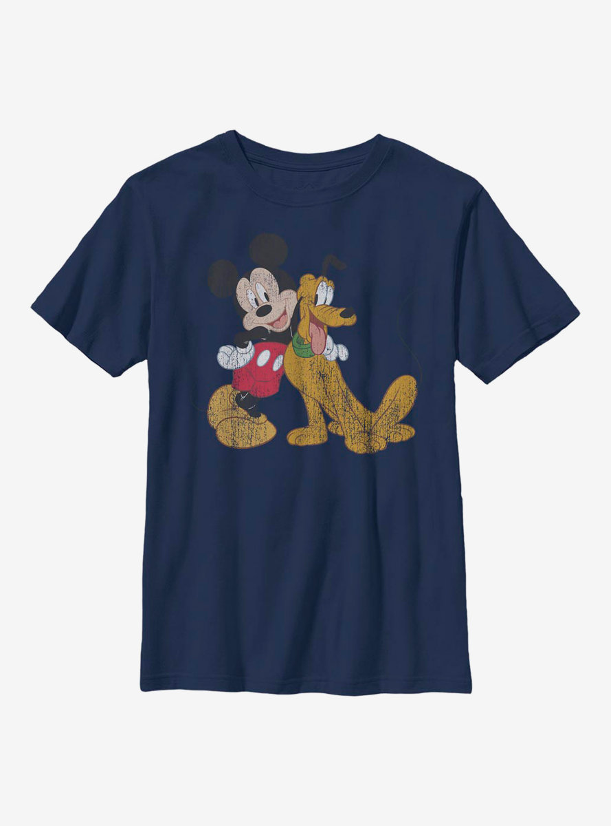 Disney Mickey Mouse And Pluto Youth T-Shirt