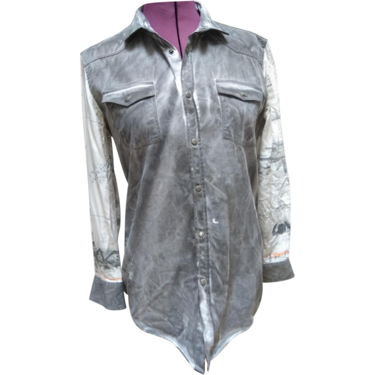 Each X \N Grey Cotton Shirts for Men M International
