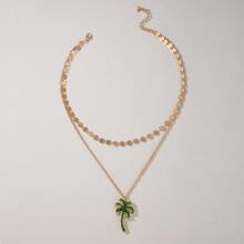 Coconut Charm Layered Necklace