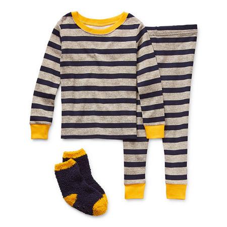 Okie Dokie Toddler Boys 2-pc. Pant Pajama Set, 5t , Blue