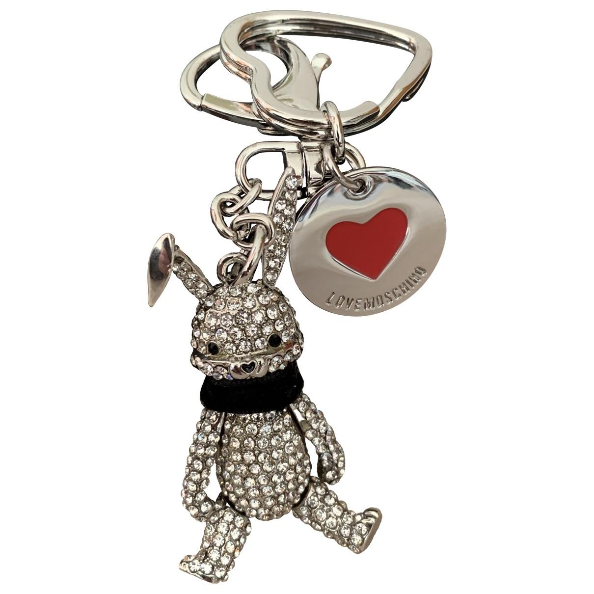 Moschino Love \N Taschenschmuck in  Silber Metall