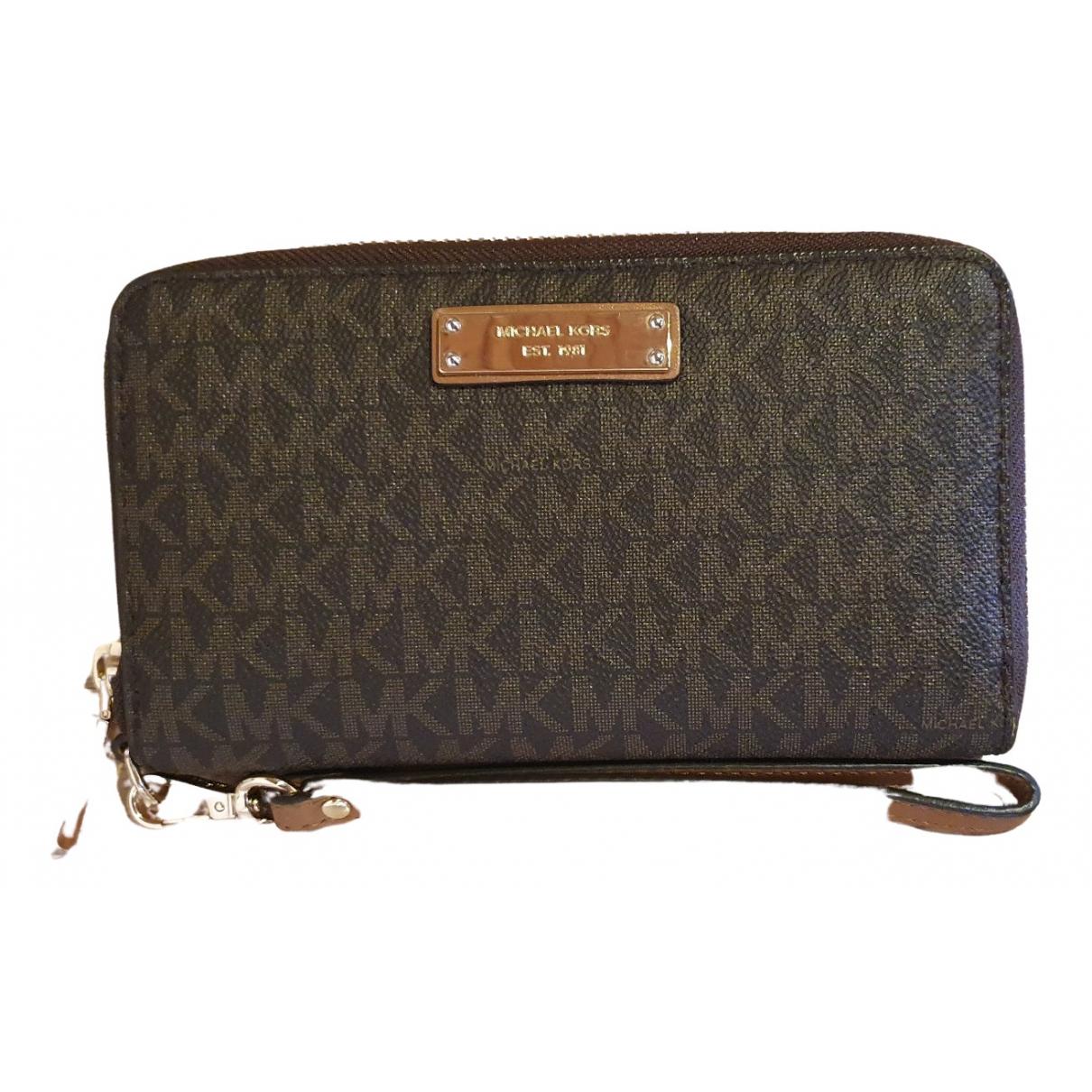 Michael Kors N Brown Cloth wallet for Women N