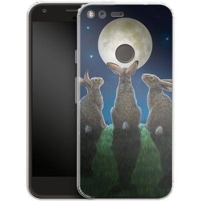Google Pixel Silikon Handyhuelle - Moonshadows von Lisa Parker