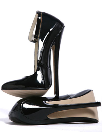 Milanoo High Heel Black Ankle Straps Patent Pumps