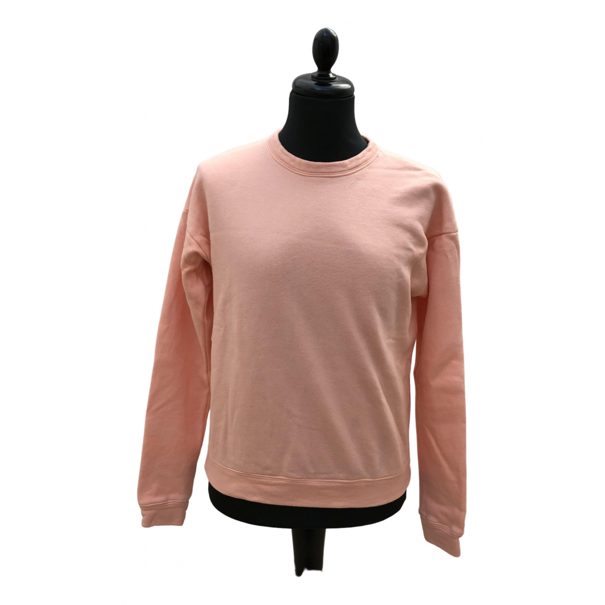The Elder Statesman \N Pullover.Westen.Sweatshirts  in  Rosa Baumwolle
