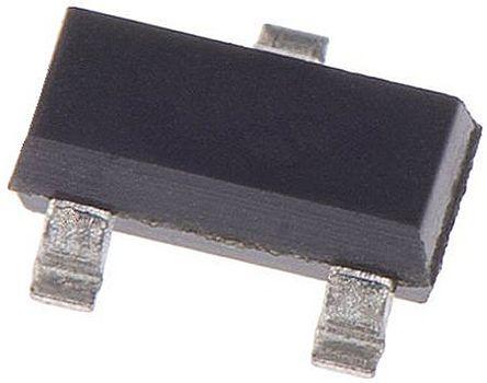 DiodesZetex Diodes Inc Dual, 3.3V Zener Diode, Common Cathode 5% 300 mW SMT 3-Pin SOT-23 (25)