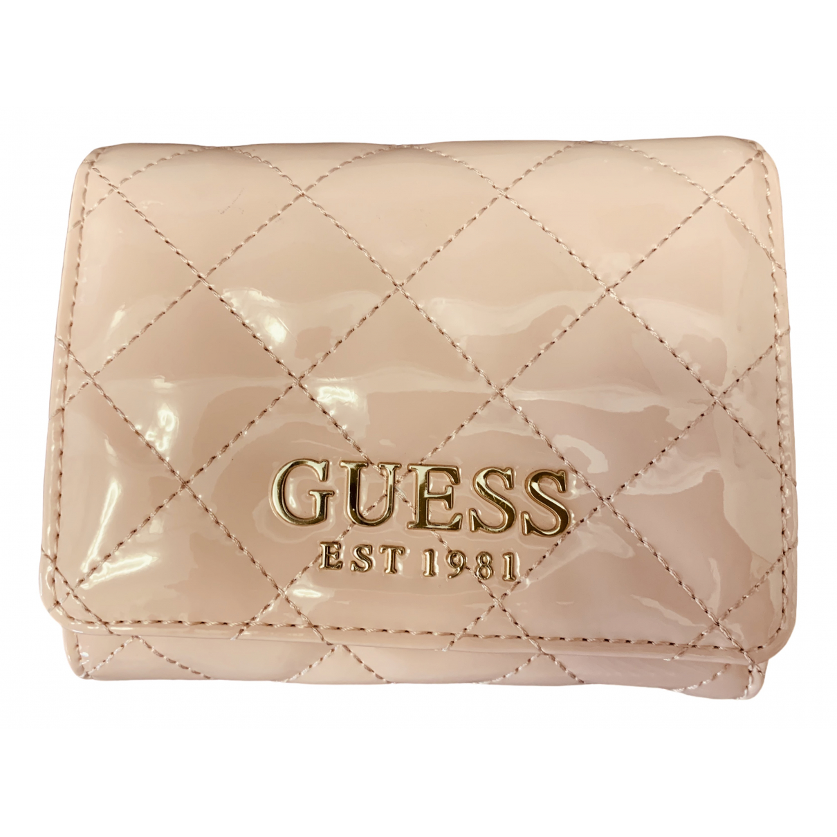 Guess \N Pink Patent leather wallet for Women \N
