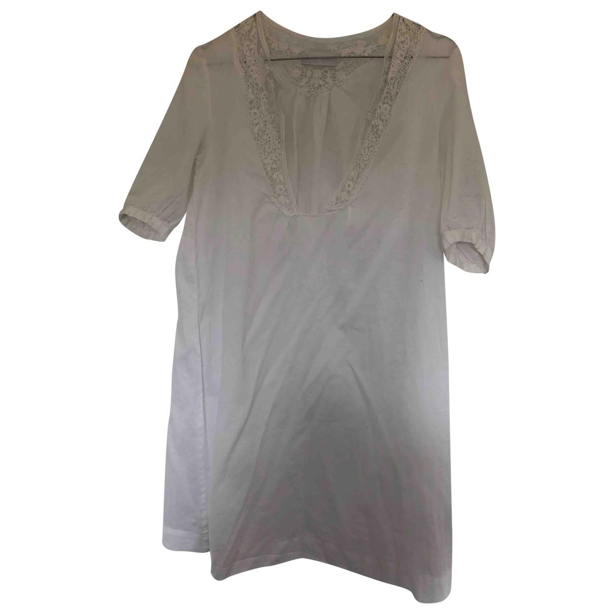 Zadig & Voltaire - Robe   pour femme en coton - blanc