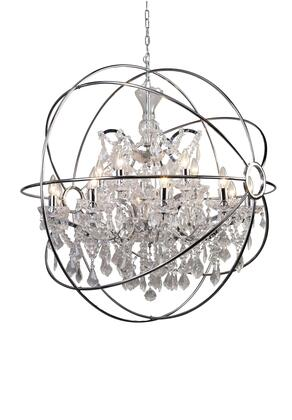 9849/10+5P-CH Chandelier with 120 Voltage in