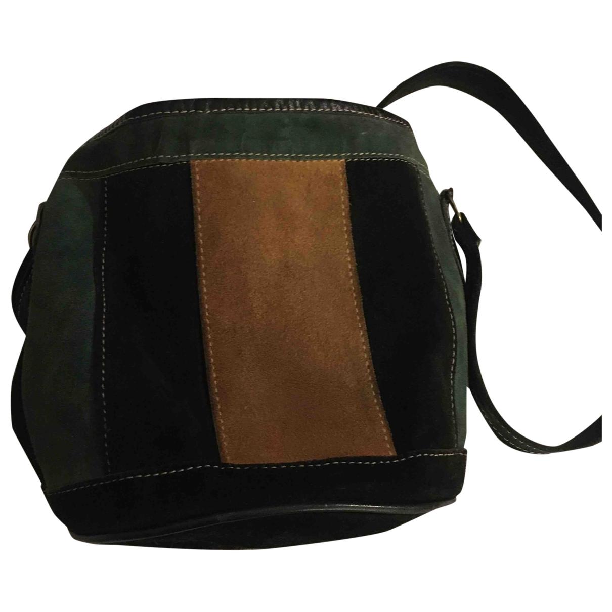 Non Signé / Unsigned Hippie Chic Black Suede handbag for Women \N