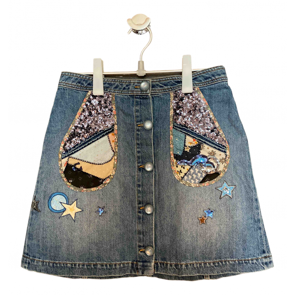 Coach \N Blue Denim - Jeans skirt for Women 4 US