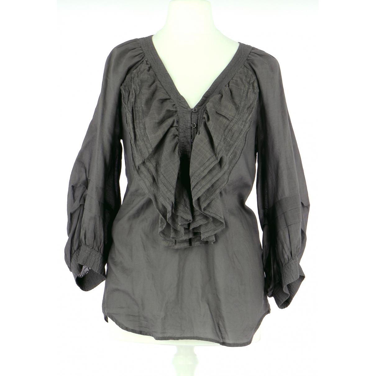 Comptoir Des Cotonniers N Grey Cotton  top for Women 36 FR