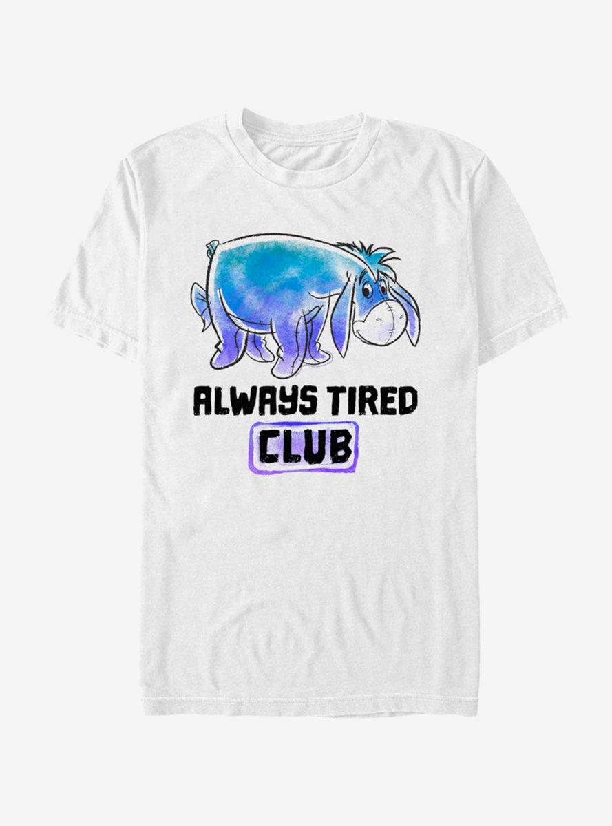 Disney Winnie The Pooh Eeyore Tired Club T-Shirt