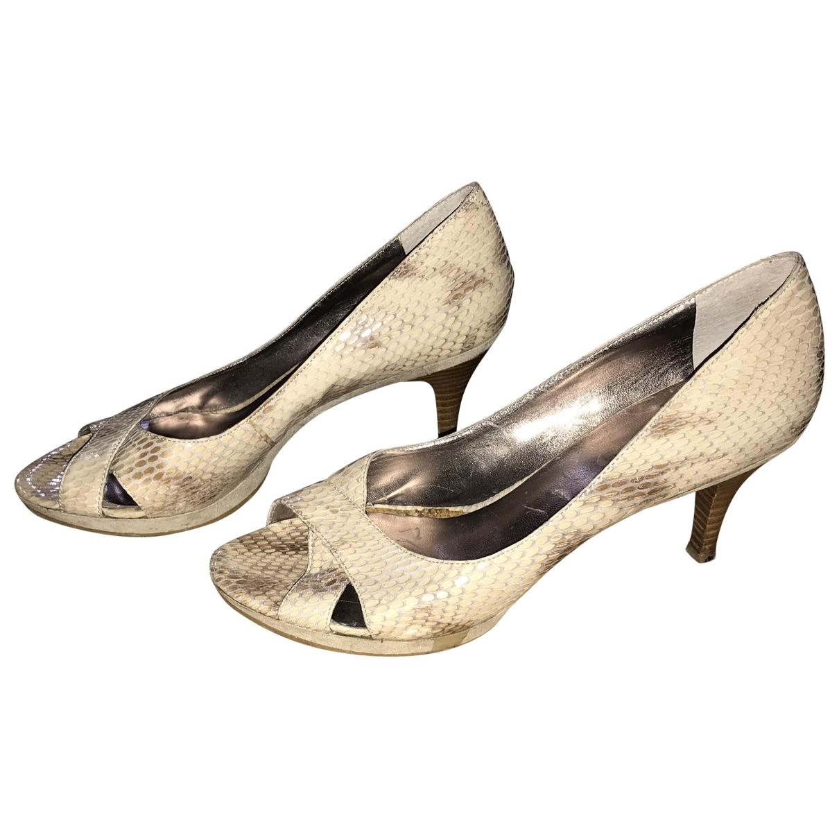 Nine West \N Beige Leather Heels for Women 38 EU