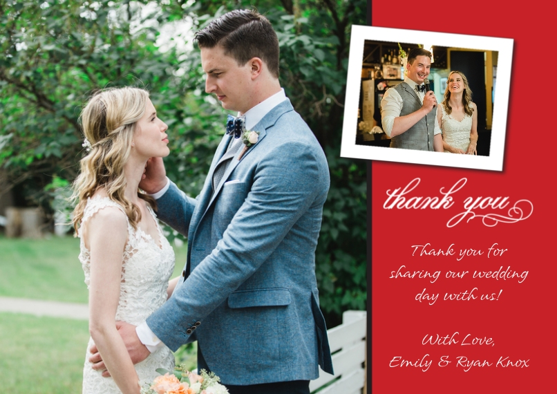 Thank You Cards 5x7 Cards, Premium Cardstock 120lb with Rounded Corners, Card & Stationery -Thank You Tilted Photo Top