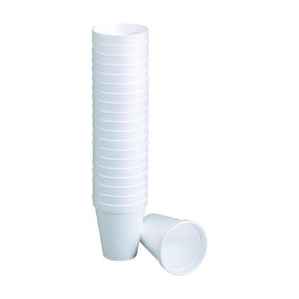 Jetables blanches tasses a caf e en polystyrene, 8 oz, 25 tasses / paquet