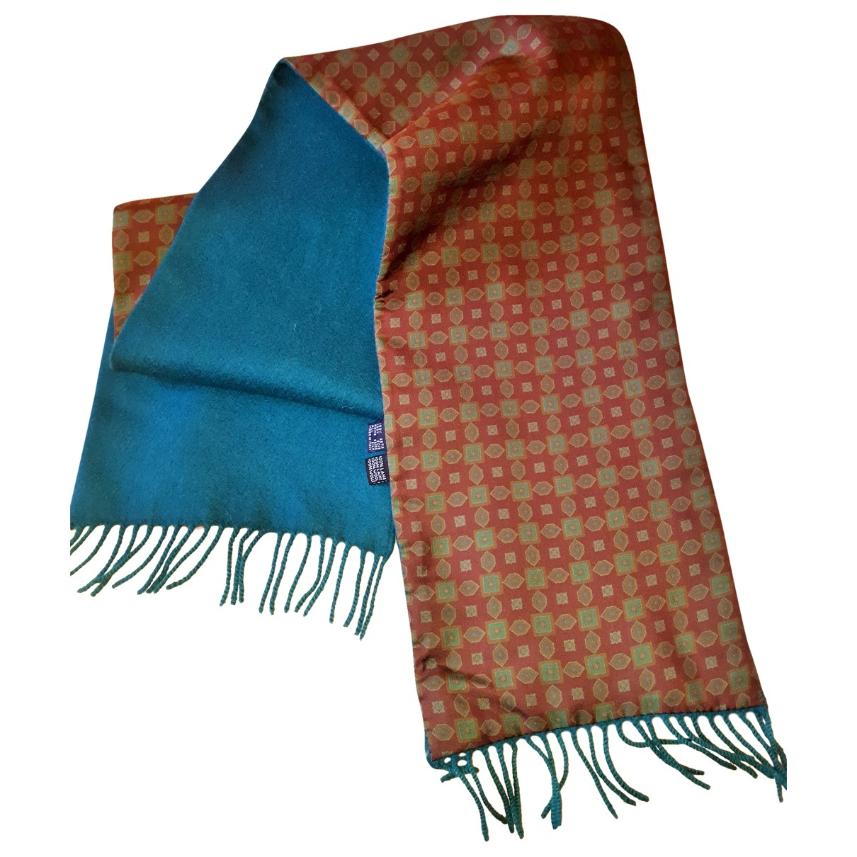 Non Signé / Unsigned \N Green Silk scarf & pocket squares for Men \N