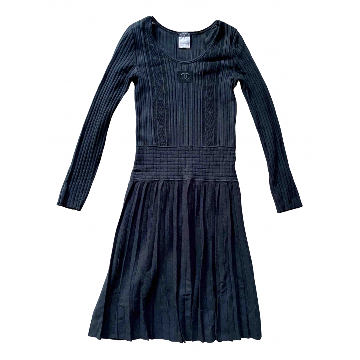 Chanel \N Kleid in  Schwarz Viskose