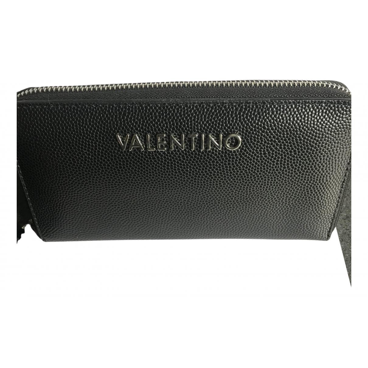 Valentino Garavani \N Portemonnaie in  Schwarz Leder