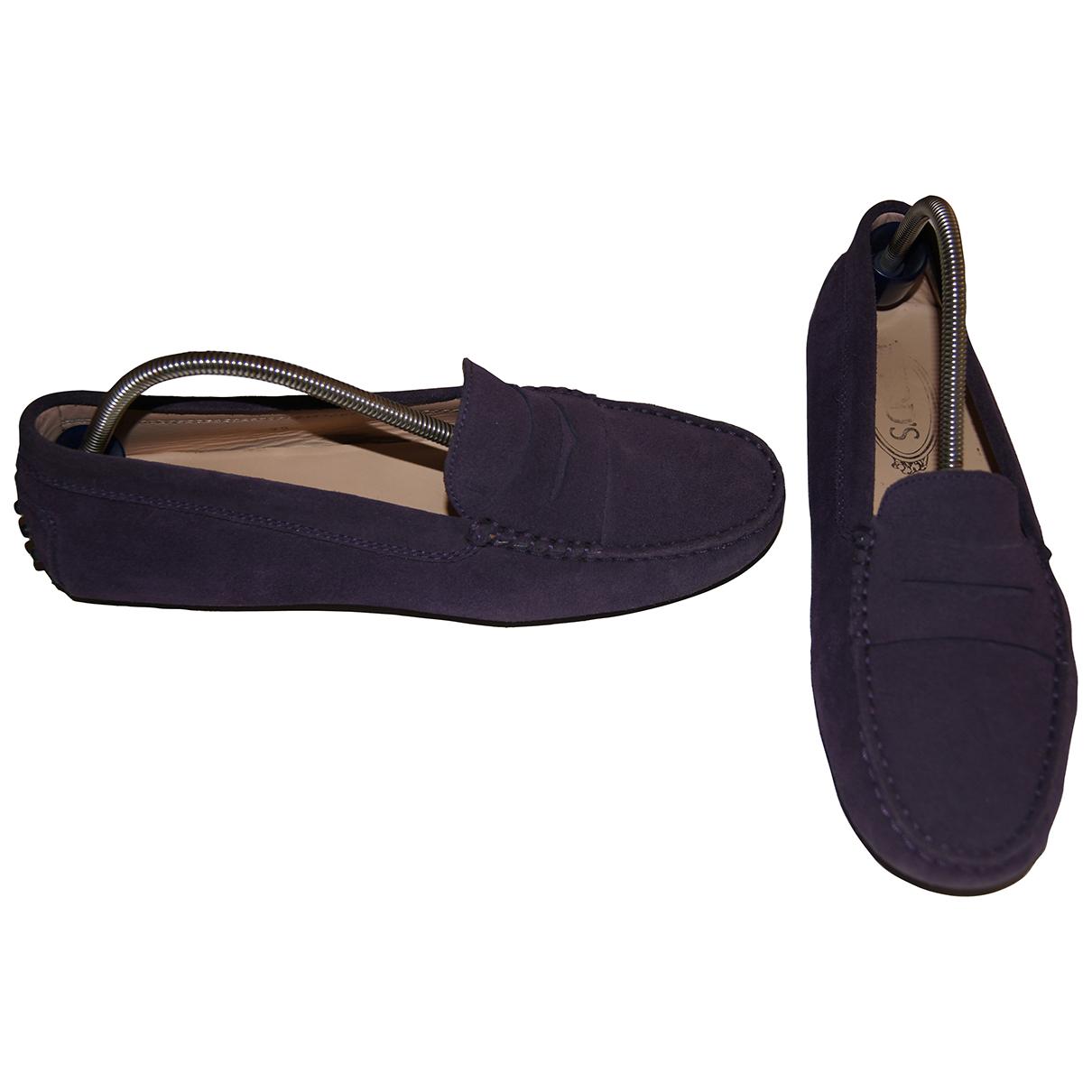 Tod's Gommino Purple Suede Flats for Women 39 EU