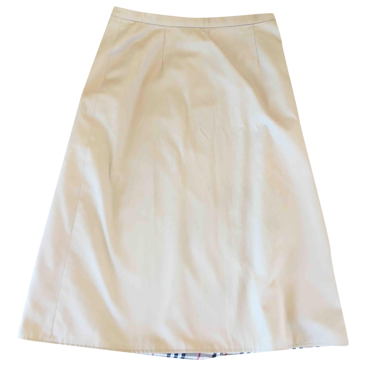 Burberry \N Beige Cotton skirt for Women 14 UK