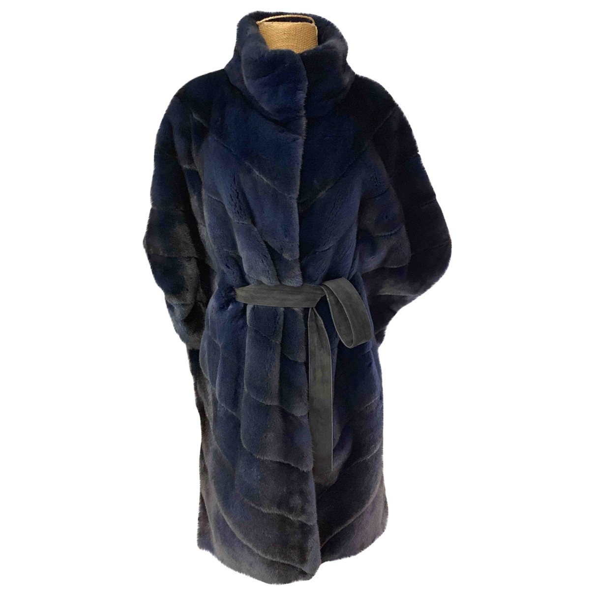 Non Signé / Unsigned \N Blue Mink coat for Women 44 IT