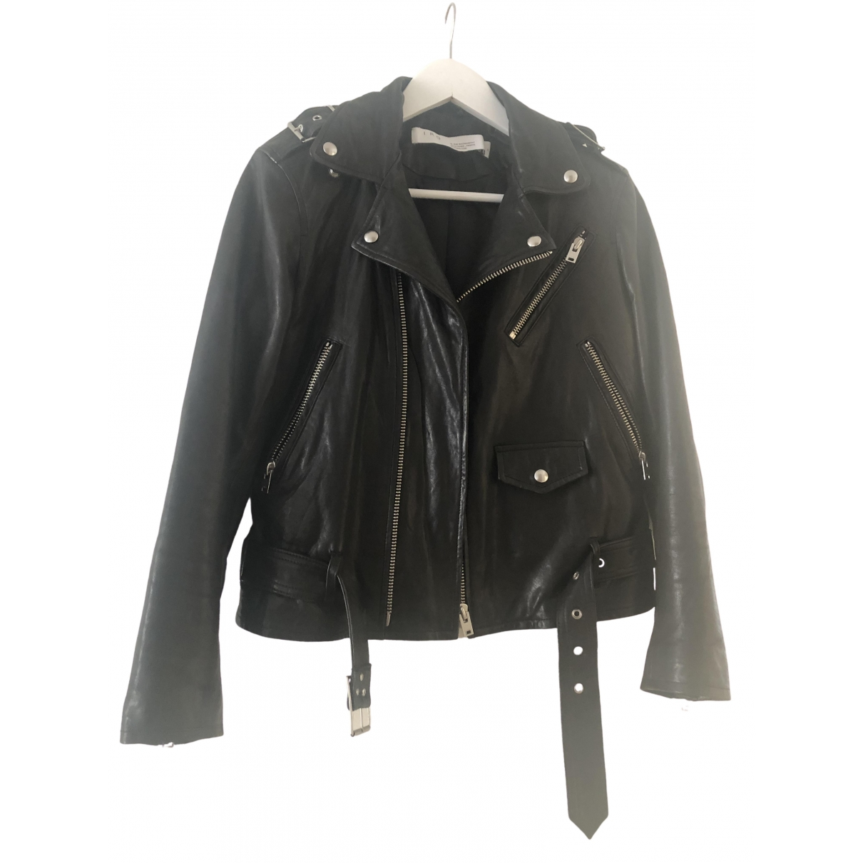 Iro Fall Winter 2019 Black Leather Leather jacket for Women 36 FR