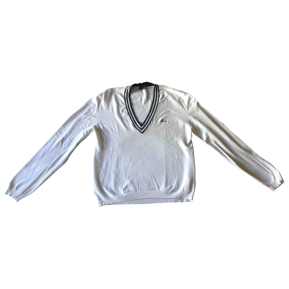 Gucci \N White Cotton Knitwear & Sweatshirts for Men L International