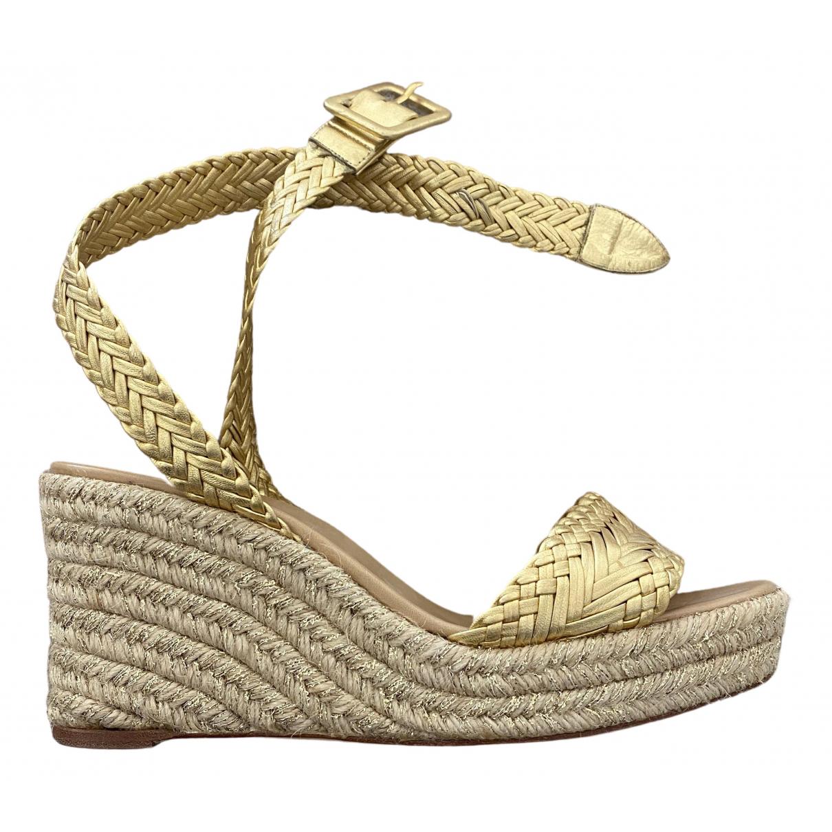 Hermes \N Espadrilles in  Gold Leder