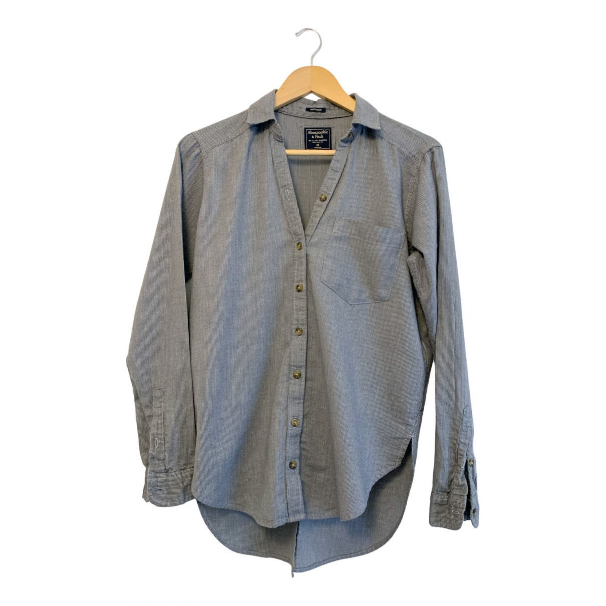 Abercrombie & Fitch N Grey Cotton  top for Women XS International