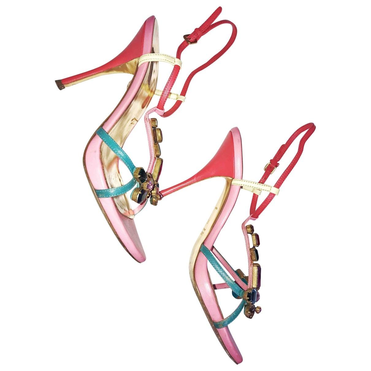 Miu Miu \N Multicolour Leather Sandals for Women 37.5 EU