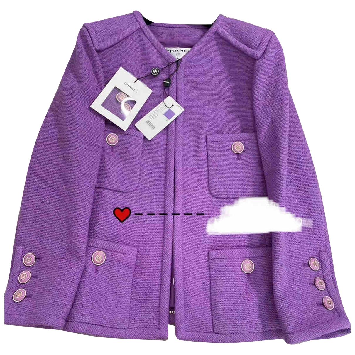 Chanel - Veste   pour femme en coton - violet
