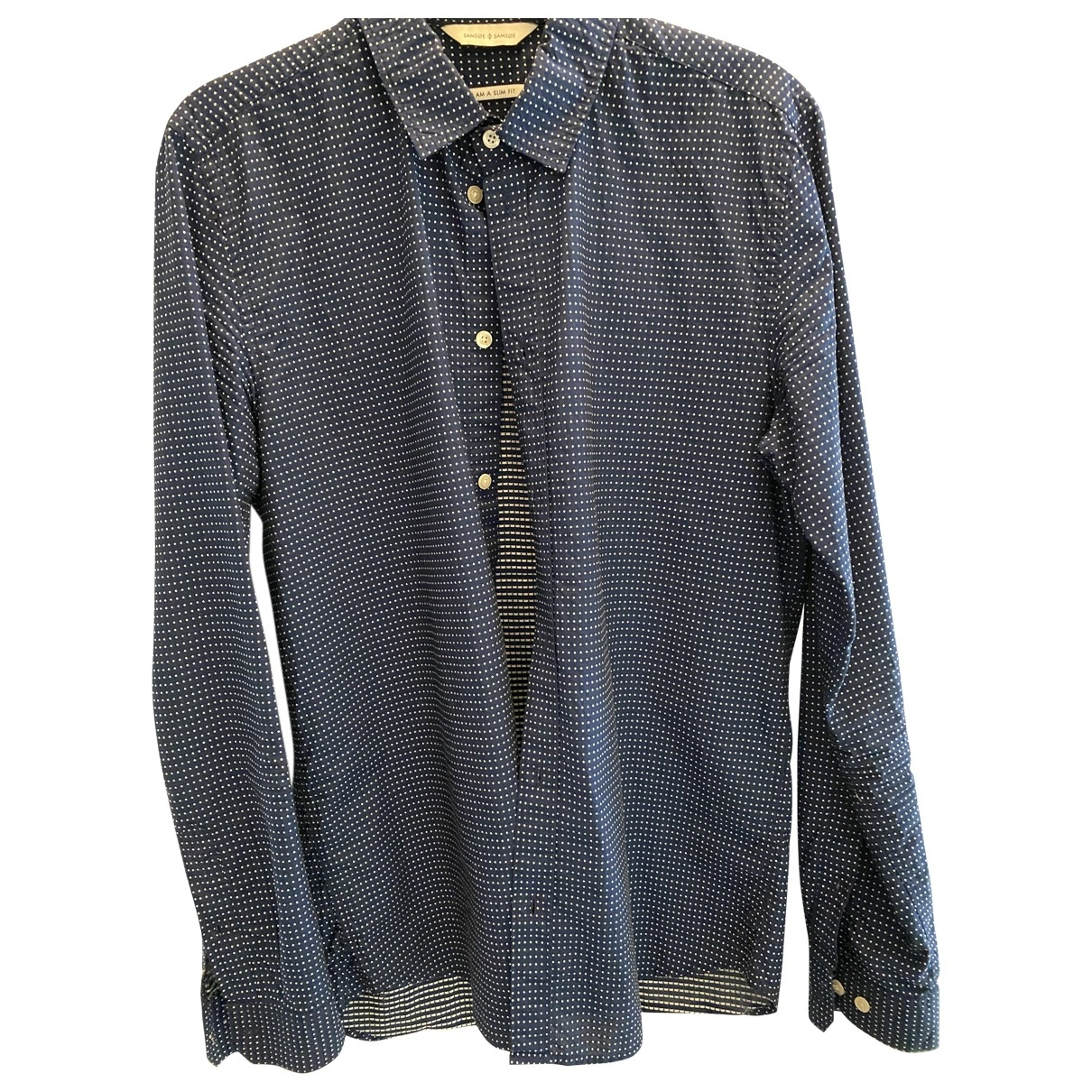 Samsoe & Samsoe \N Blue Cotton Shirts for Men M International