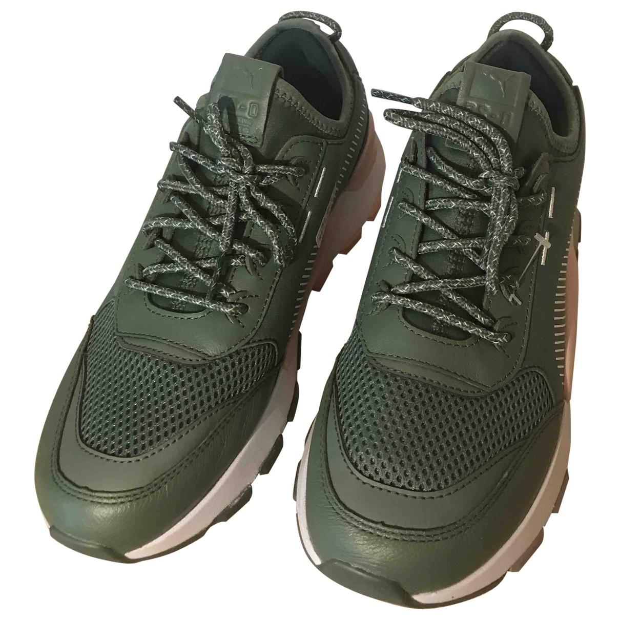 Puma \N Khaki Leather Trainers for Women 38.5 EU