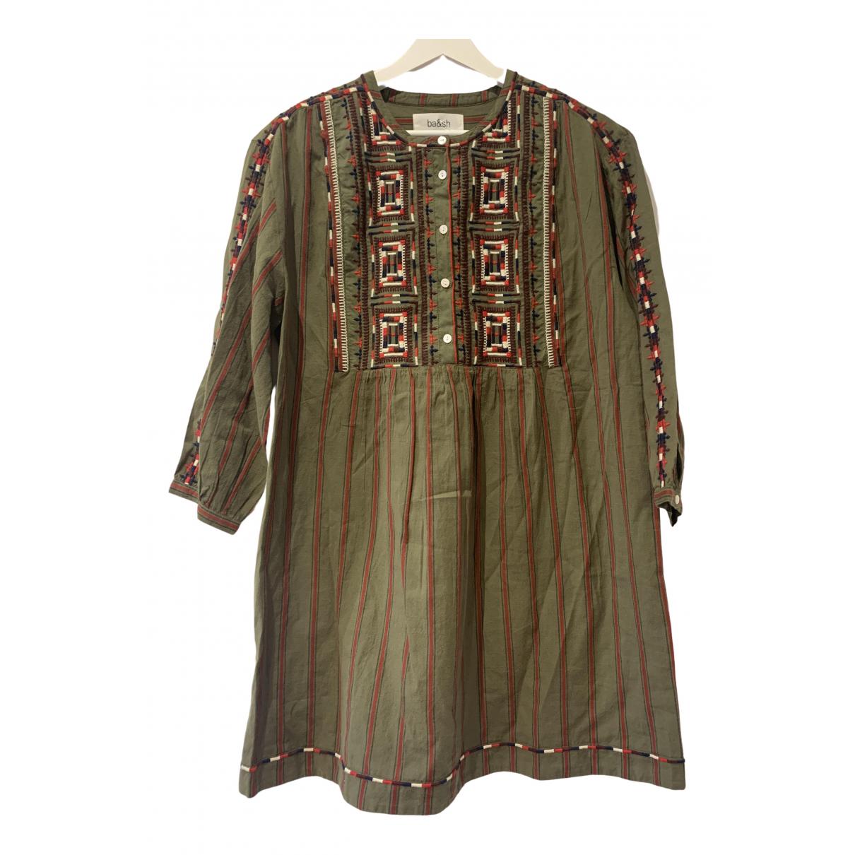 Ba&sh \N Kleid in  Khaki Baumwolle