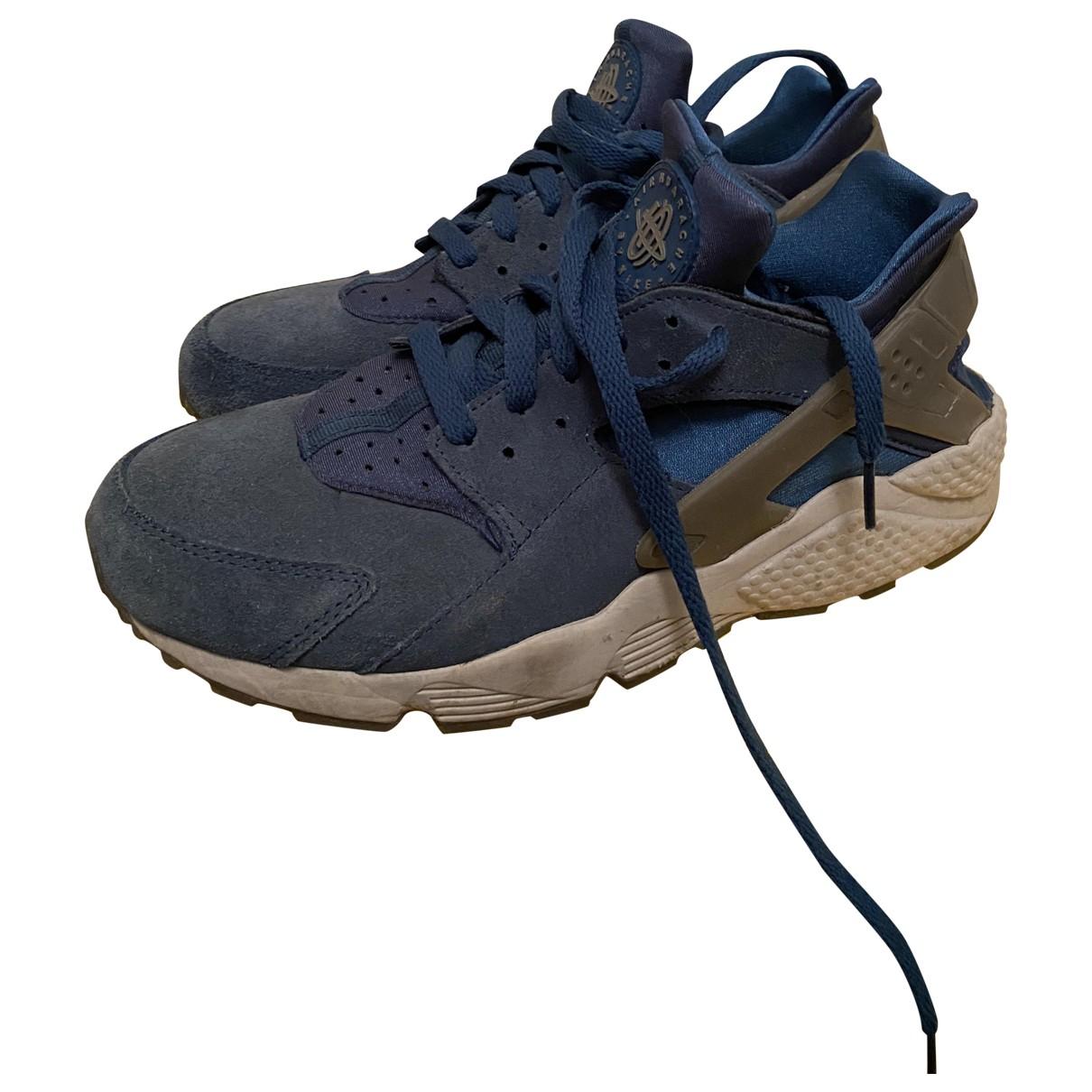 Nike - Baskets Huarache pour femme en suede - bleu
