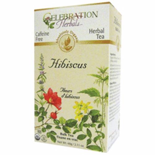 Organic Hibiscus Flower Tea 60 grams by Celebration Herbals