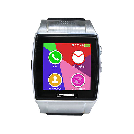 LINSAY NEW Executive EX-5L Smartwatch with Google Assistant, camera for video/photo and up to 64GB Micro SD SLOT, One Size , Black