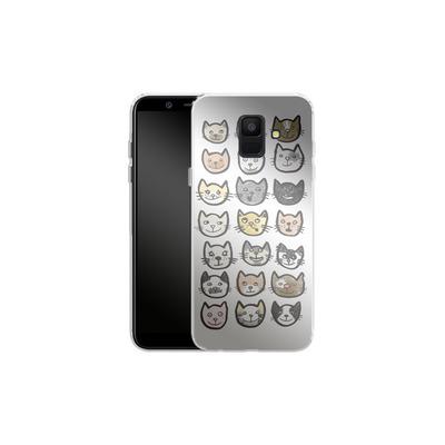 Samsung Galaxy A6 Silikon Handyhuelle - 28 Cats von caseable Designs
