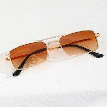 Maenner Pilotenbrille mit quadratischem Rahmen