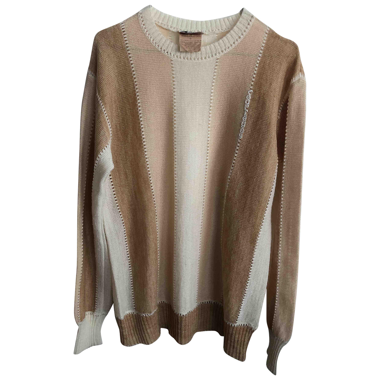 Courreges \N Pullover.Westen.Sweatshirts  in  Beige Wolle