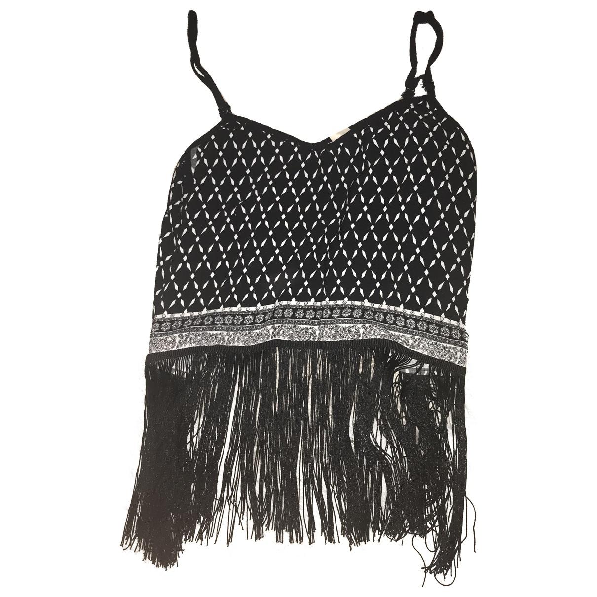 - Top Hippie Chic pour femme en coton - noir