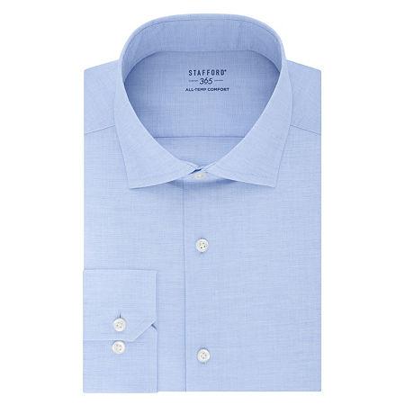 Stafford Mens Wrinkle Free 365 All-Temp Flex Collar Big and Tall Dress Shirt, 19 36-37, Blue