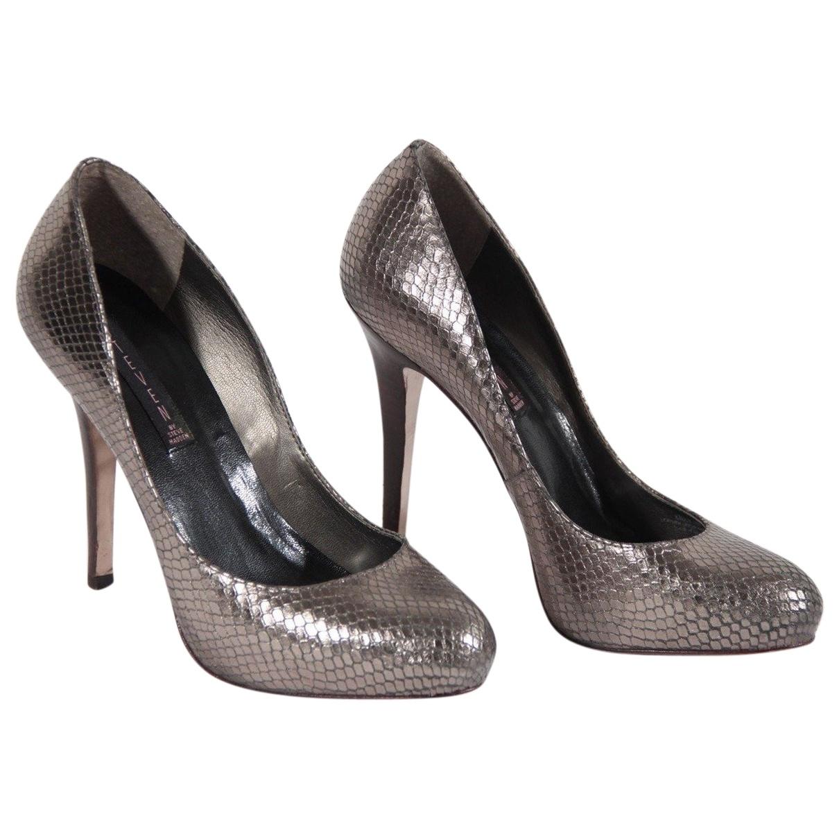 Steve Madden \N Silver Leather Heels for Women 39 EU
