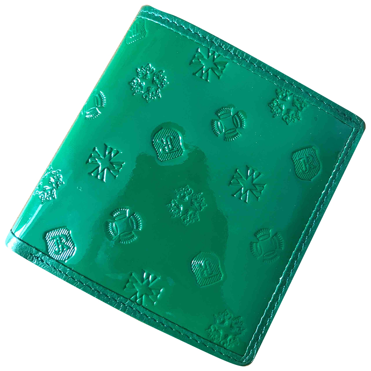 Non Signé / Unsigned \N Green Leather Small bag, wallet & cases for Men \N