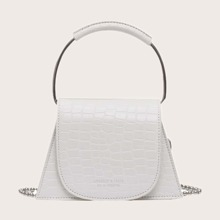 Trapezoid Satchel Bag