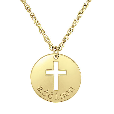 Womens 24K Gold Over Silver Pendant Necklace, One Size , No Color Family