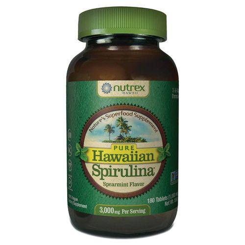 Spirulina Pacifica Spearmint Flavor 180 Tabs by Nutrex