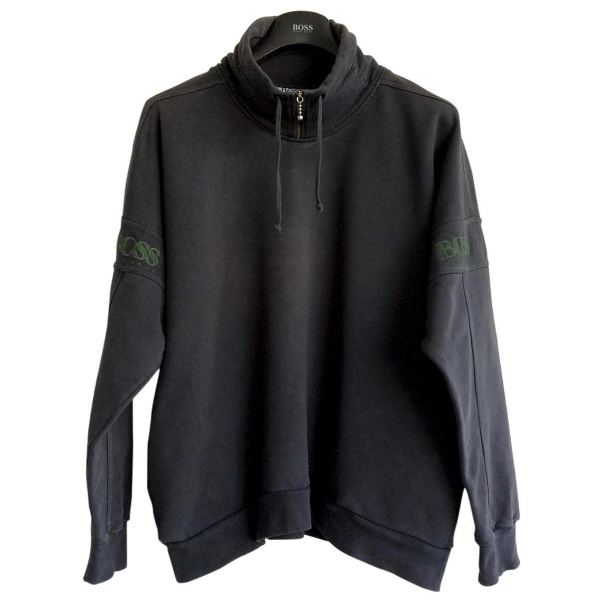 Boss \N Pullover.Westen.Sweatshirts  in  Anthrazit Baumwolle